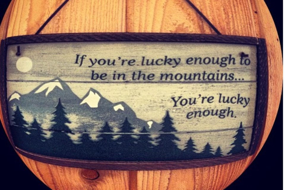 If your lucky enough...