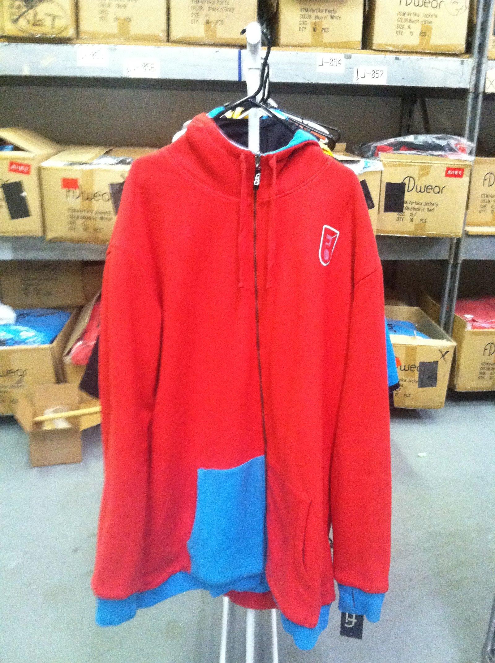 Blue n' Red Fleece Reversible (Side 2)