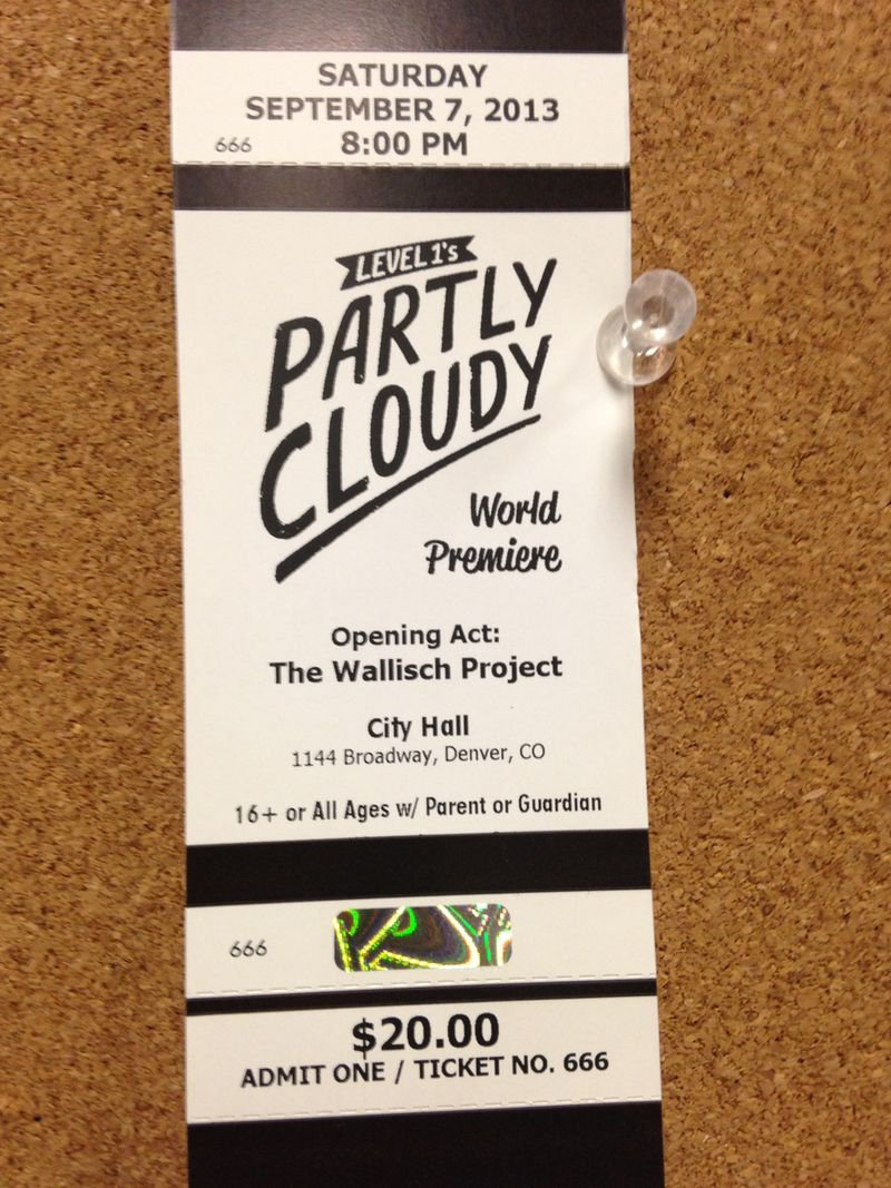 Partly Cloudy Premiere Ticket!