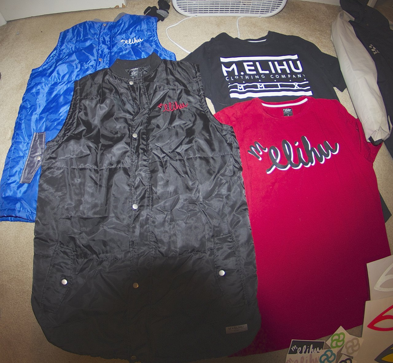 M.elihu vests/tees