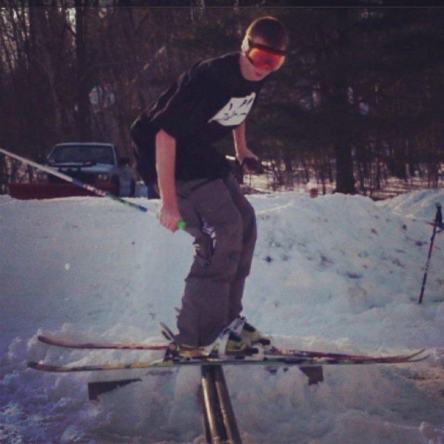 backyard skiing
