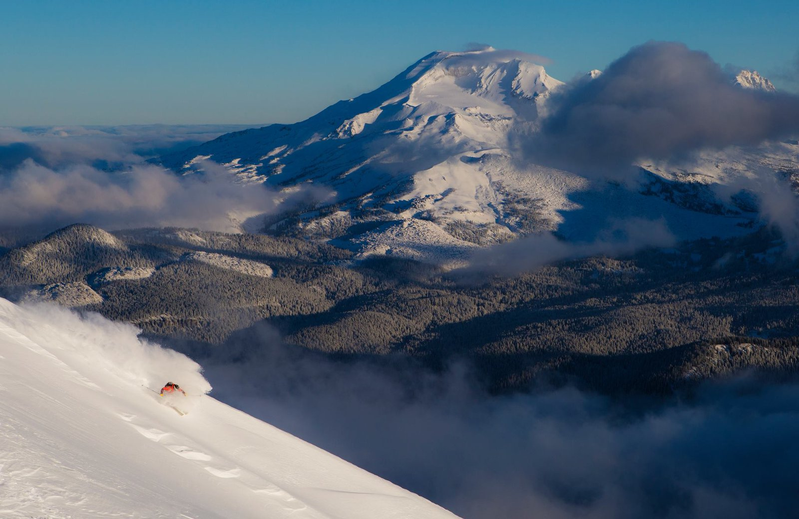 Mt.Bachelor with South Sister in the background