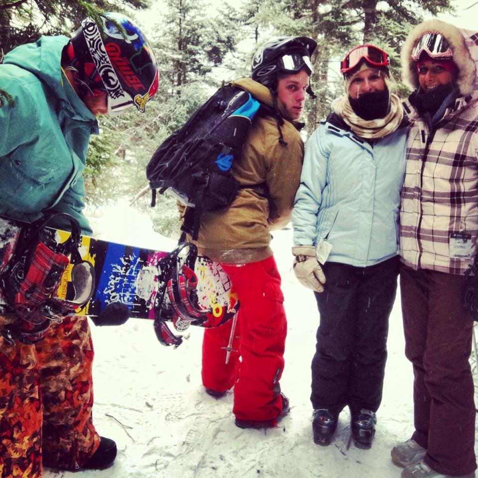 Always gettin @#$%$ by snowboarders