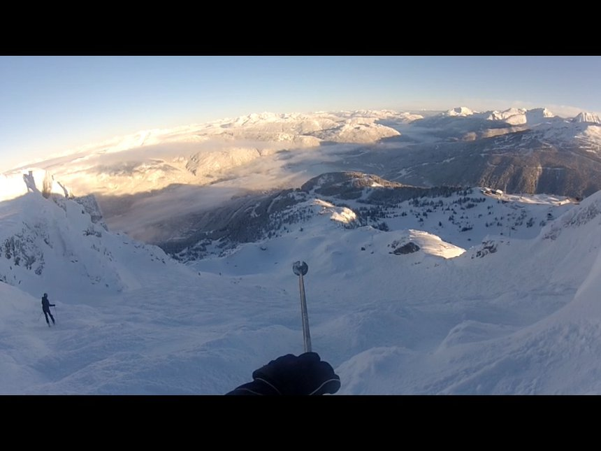 Top of whistler bowl