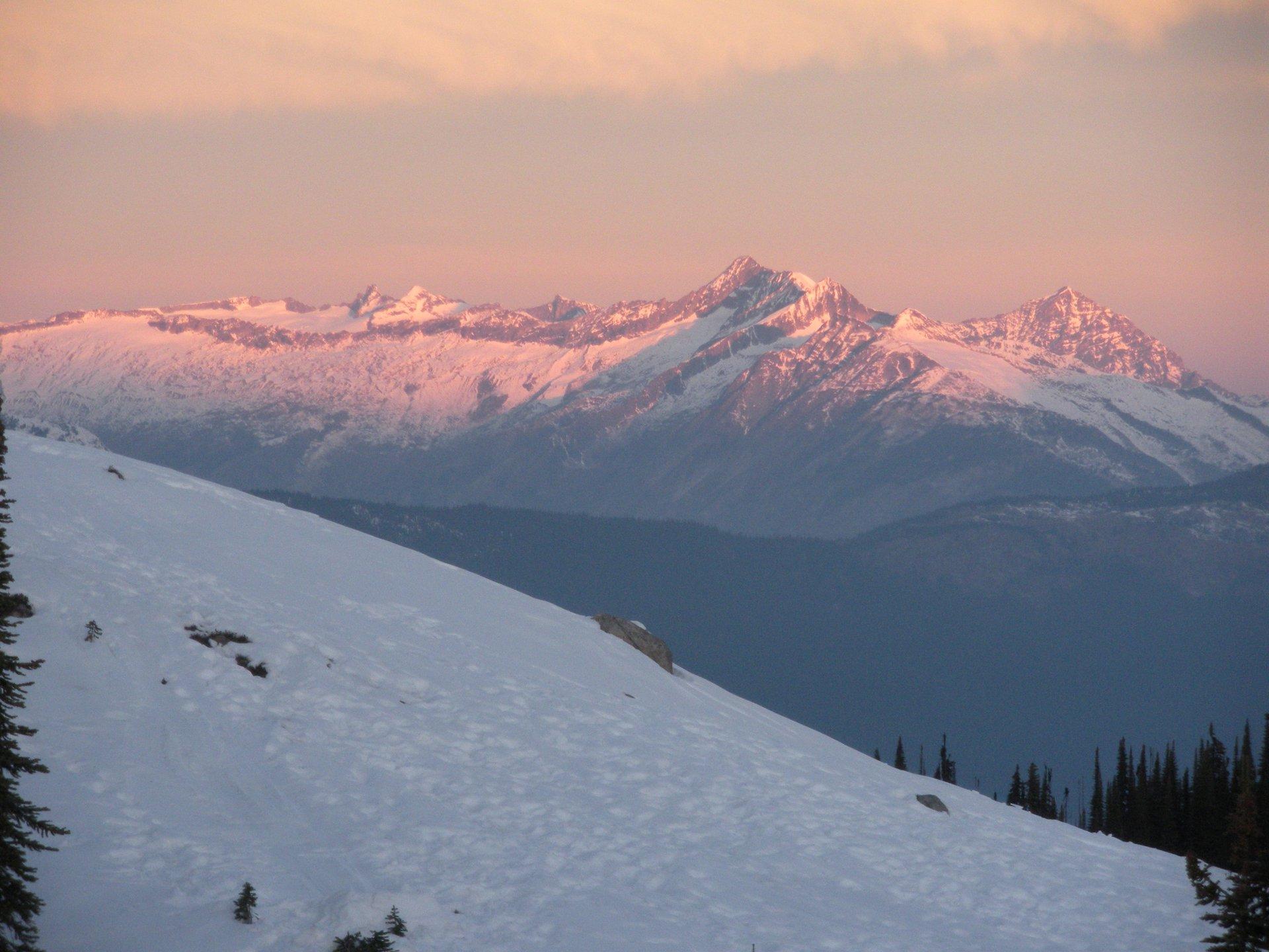 morning alpenglow