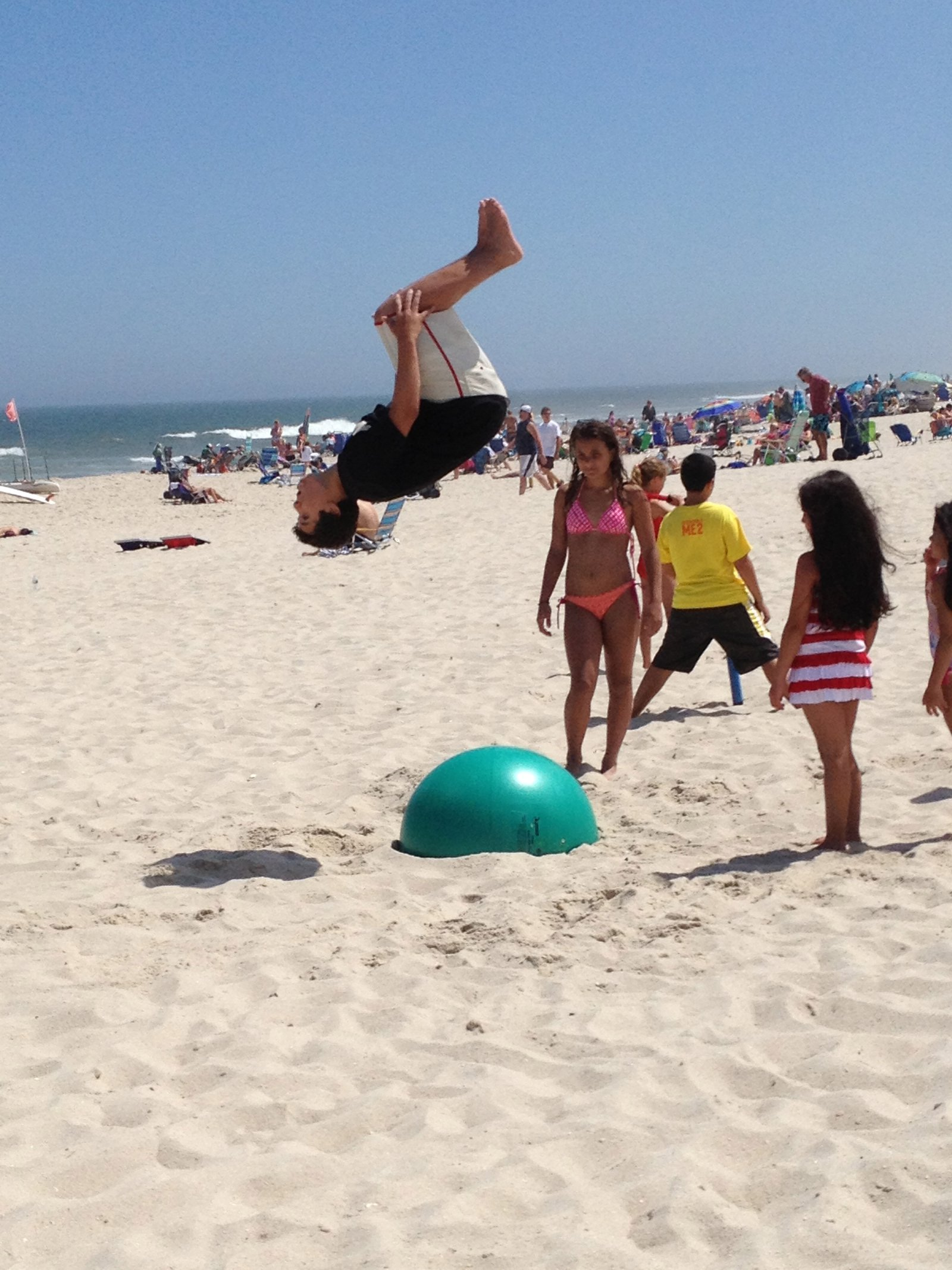 Flippin at the beach