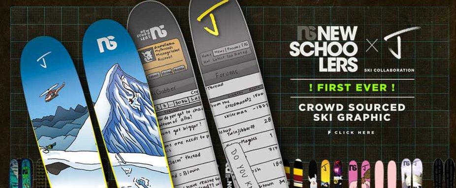 Introducing the Newschoolers Ski!