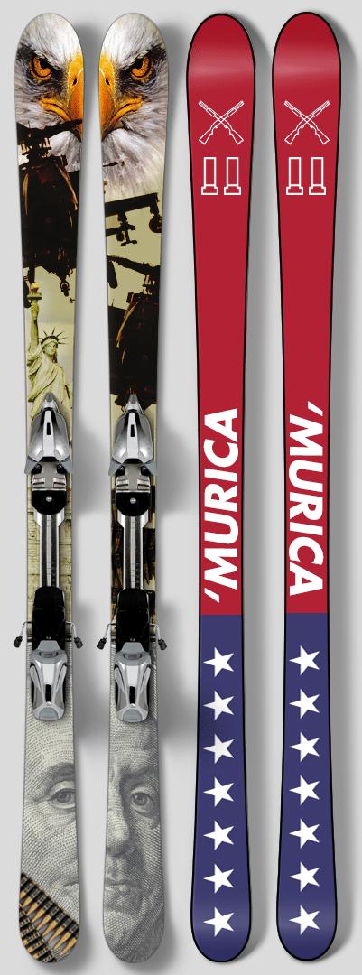 'MURICA skis hoe