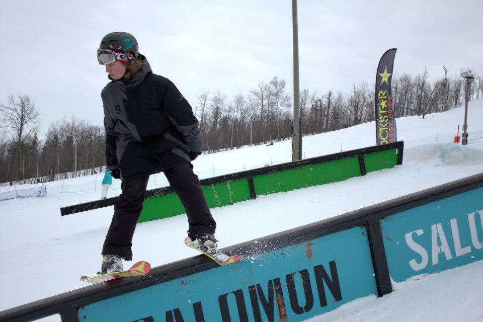 Skiing with jake