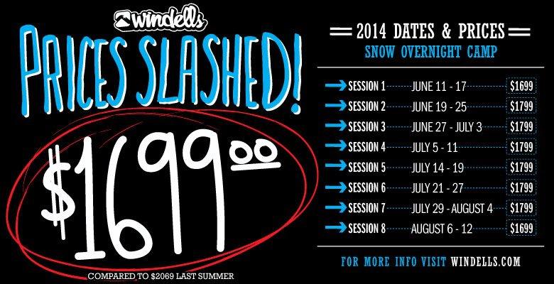 Windells 2014 dates & prices