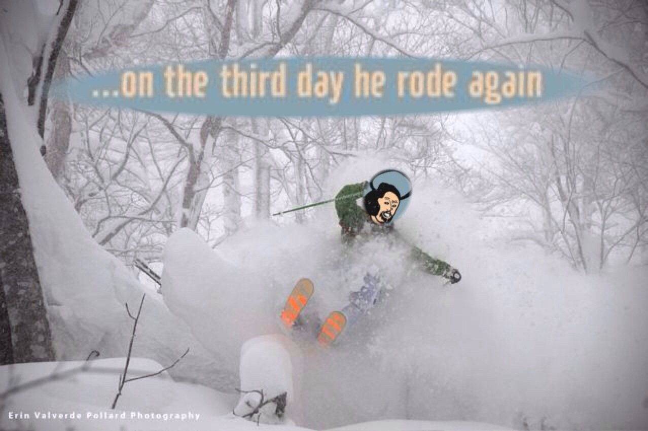 On he third day he rode again....