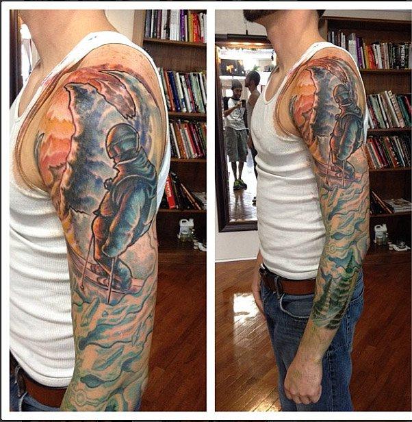 Ski Sleeve Tattoo