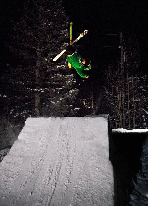 Trent on the Backyard Jump