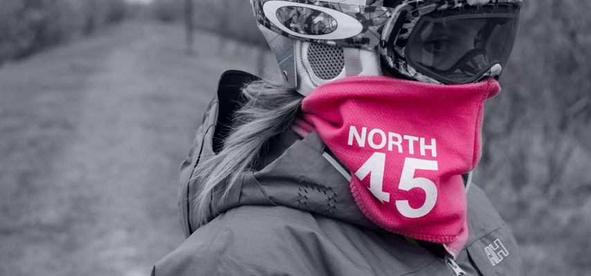 Pink prototype of the North45 scarf
