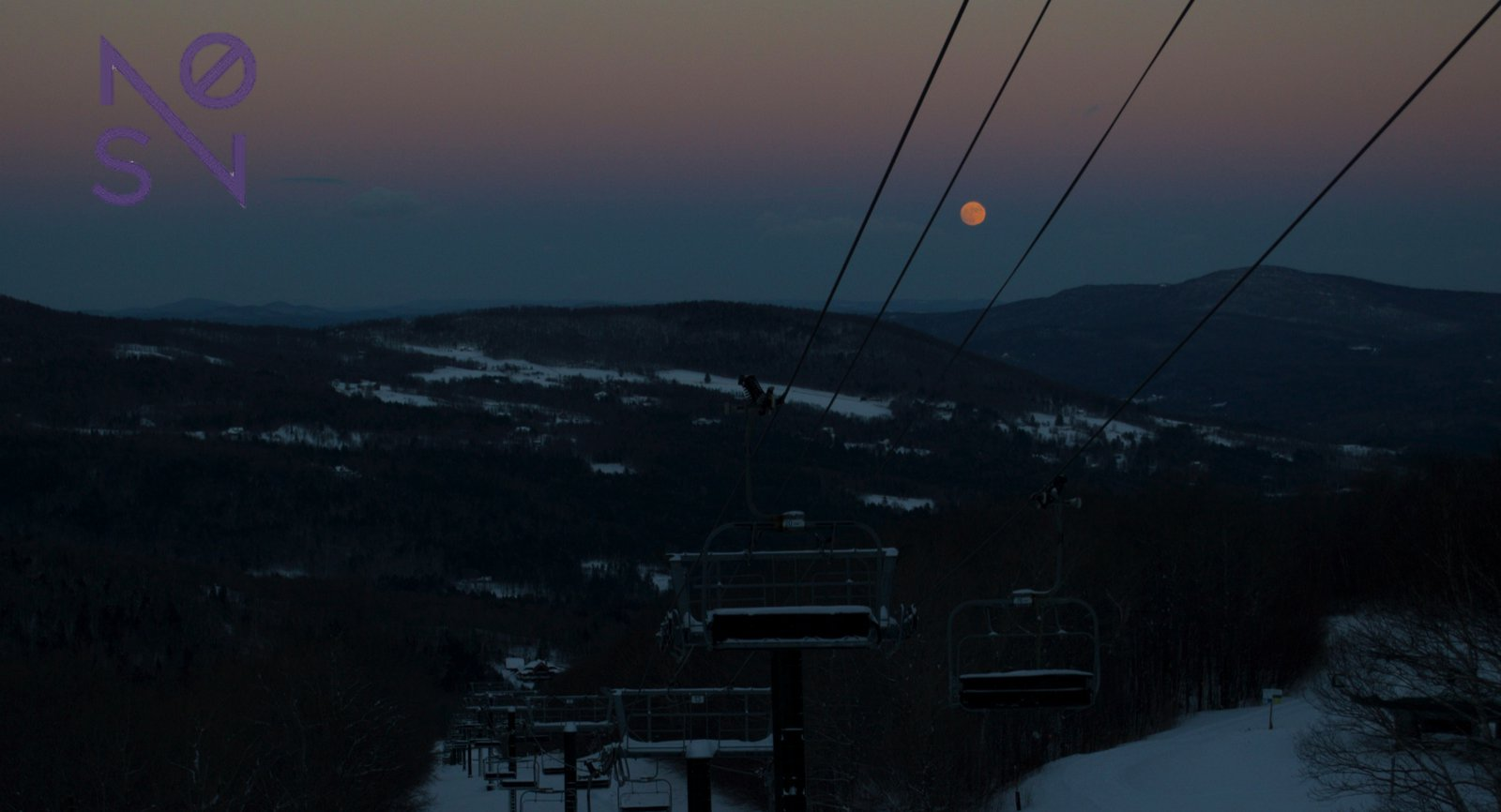 The Moon Cusping the Ridge Line