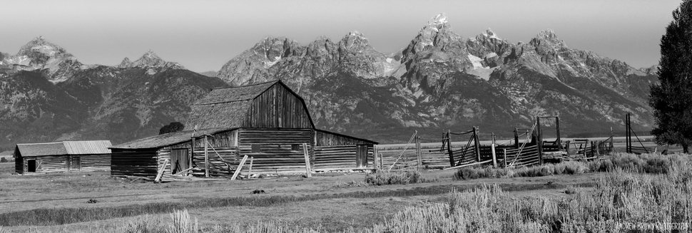 Tate barn in the tetons