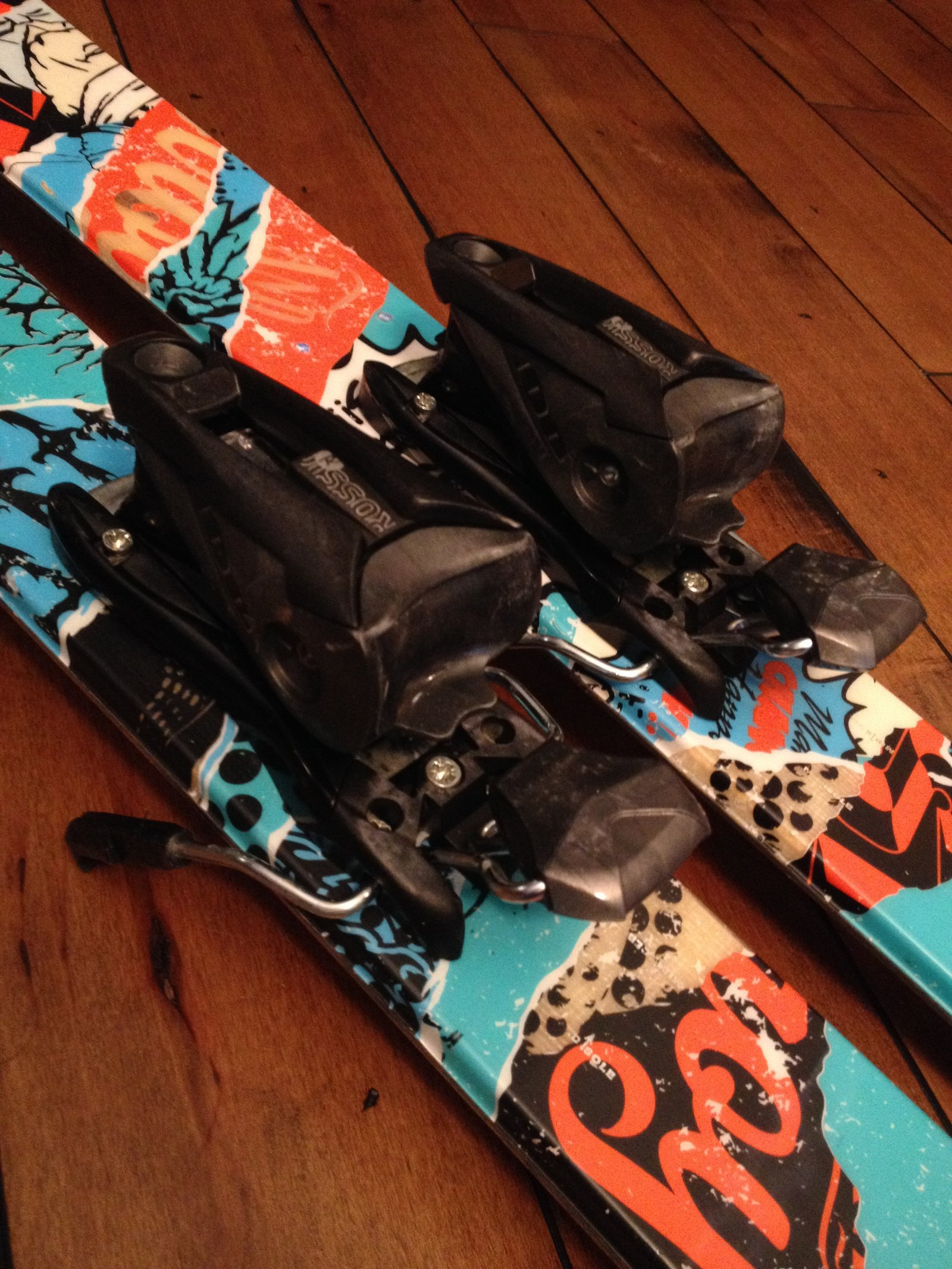 Pair of 2011/2012 Line Mastermind twin tip skis size 157