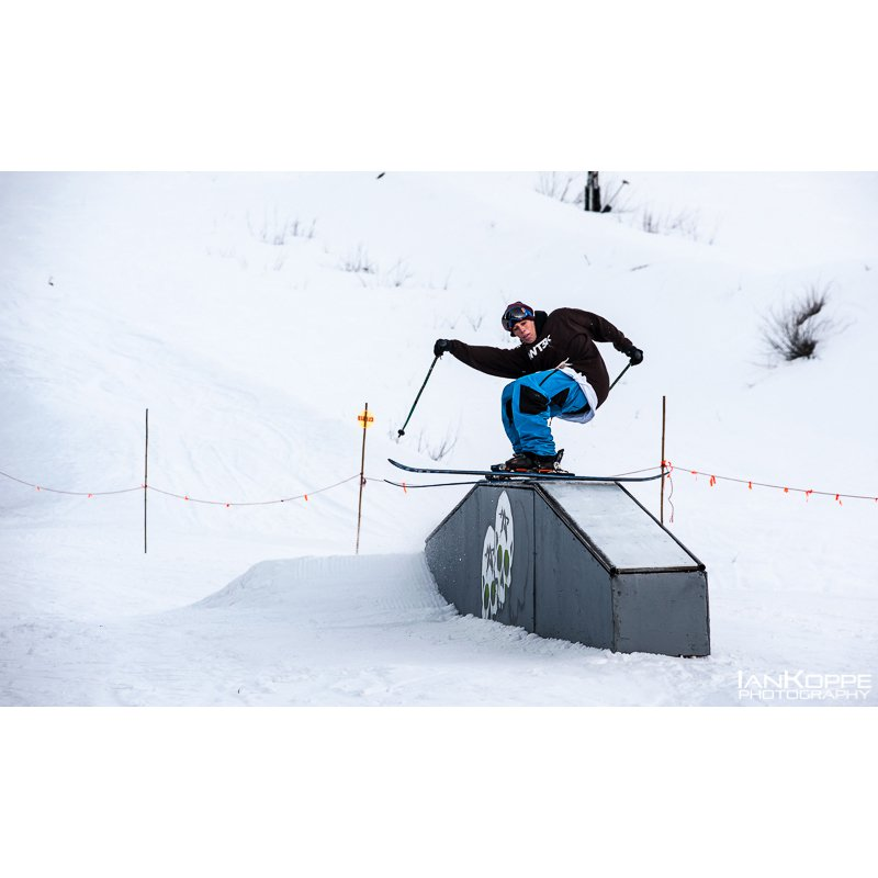 Riding boxes at Snoqualmie