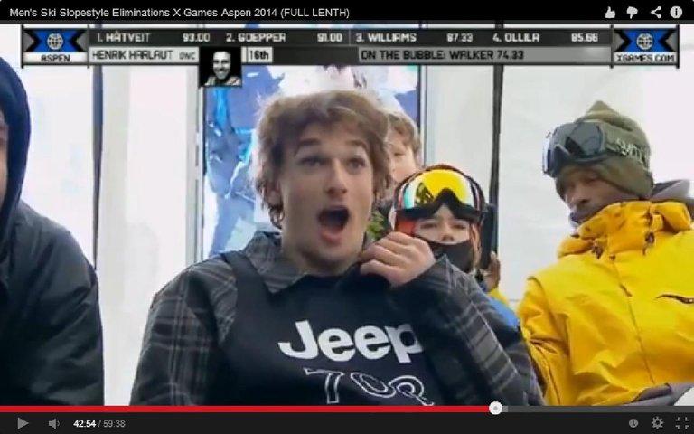 Goepper's Reaction to Harlaut's Run