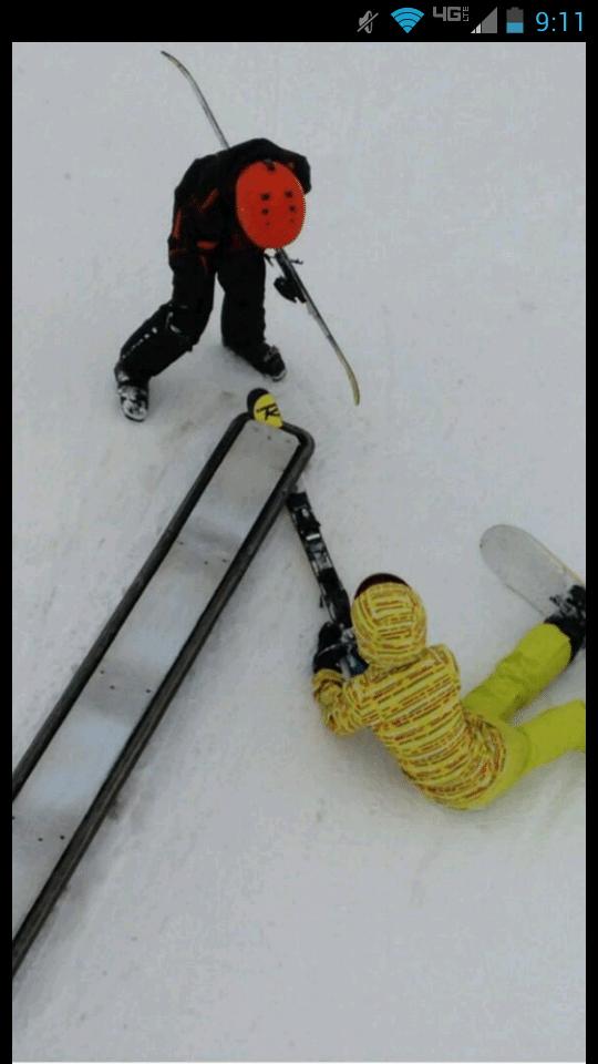 Ski Stuck In Rail Second Time