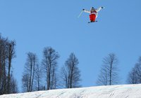 Freeskiers give first-ever Olympic slopestyle course big, icy thumbs up