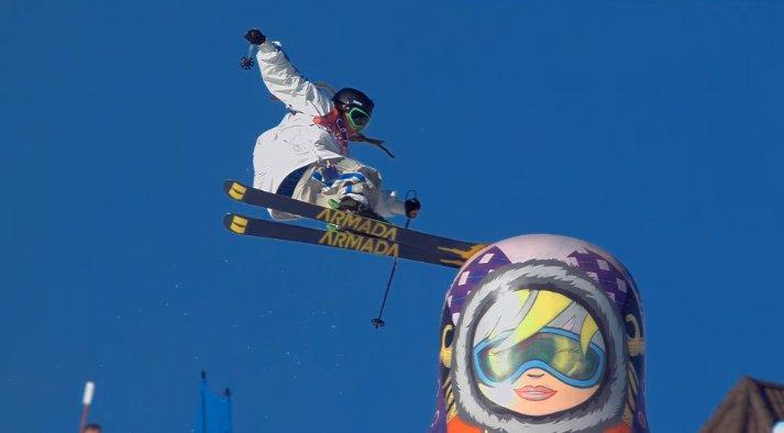 Henrik Harlaut Olympic Slopestyle Qualifier - bonks the Russian doll