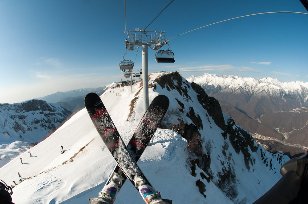 A Ski Day in Sochi