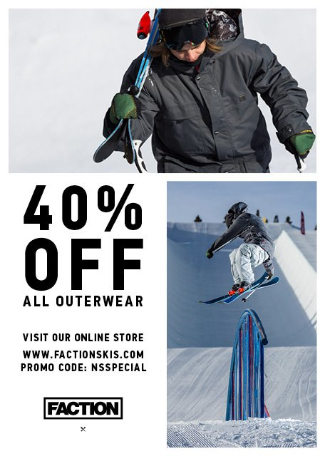 Faction - 40% off all outerwear