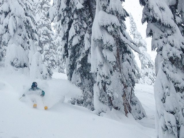 It was deep today