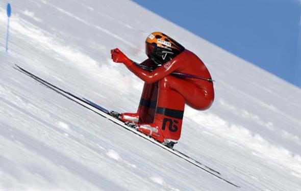 Backwards Speed Skiing Record