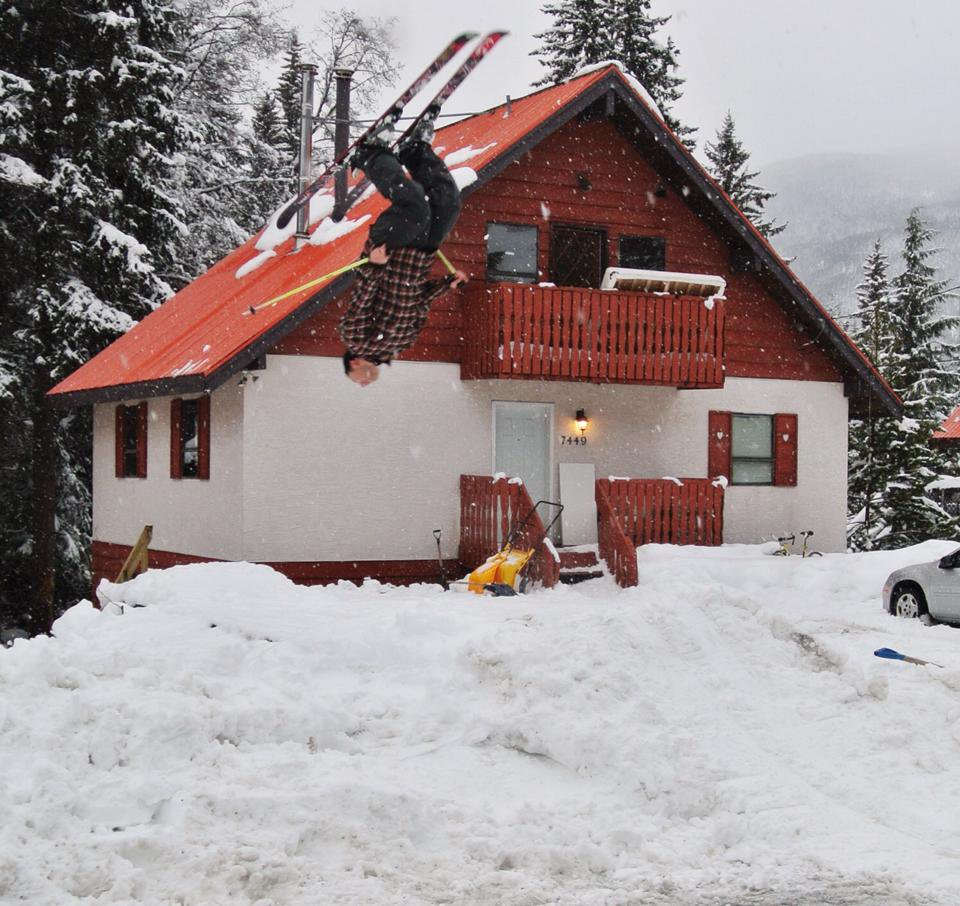 Skiing to my front door