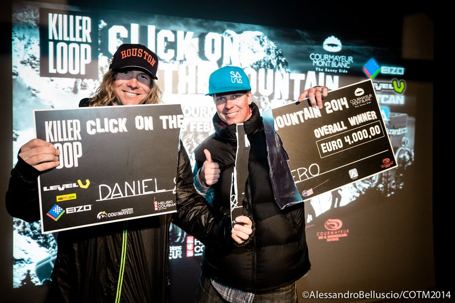 Daniel Rönnbäck and Tero Repo share first place at Killer Loop Click on the Mountain by Courmayer Mont Blanc