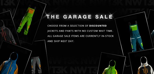 The Garage Sale - Discounted Jackets & Pants