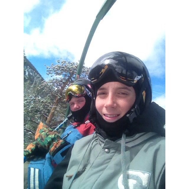 12/13 season chairlift selfie lol