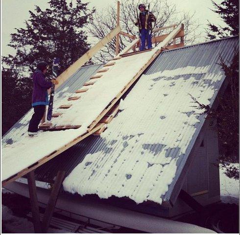 Backyard Roof Ramp