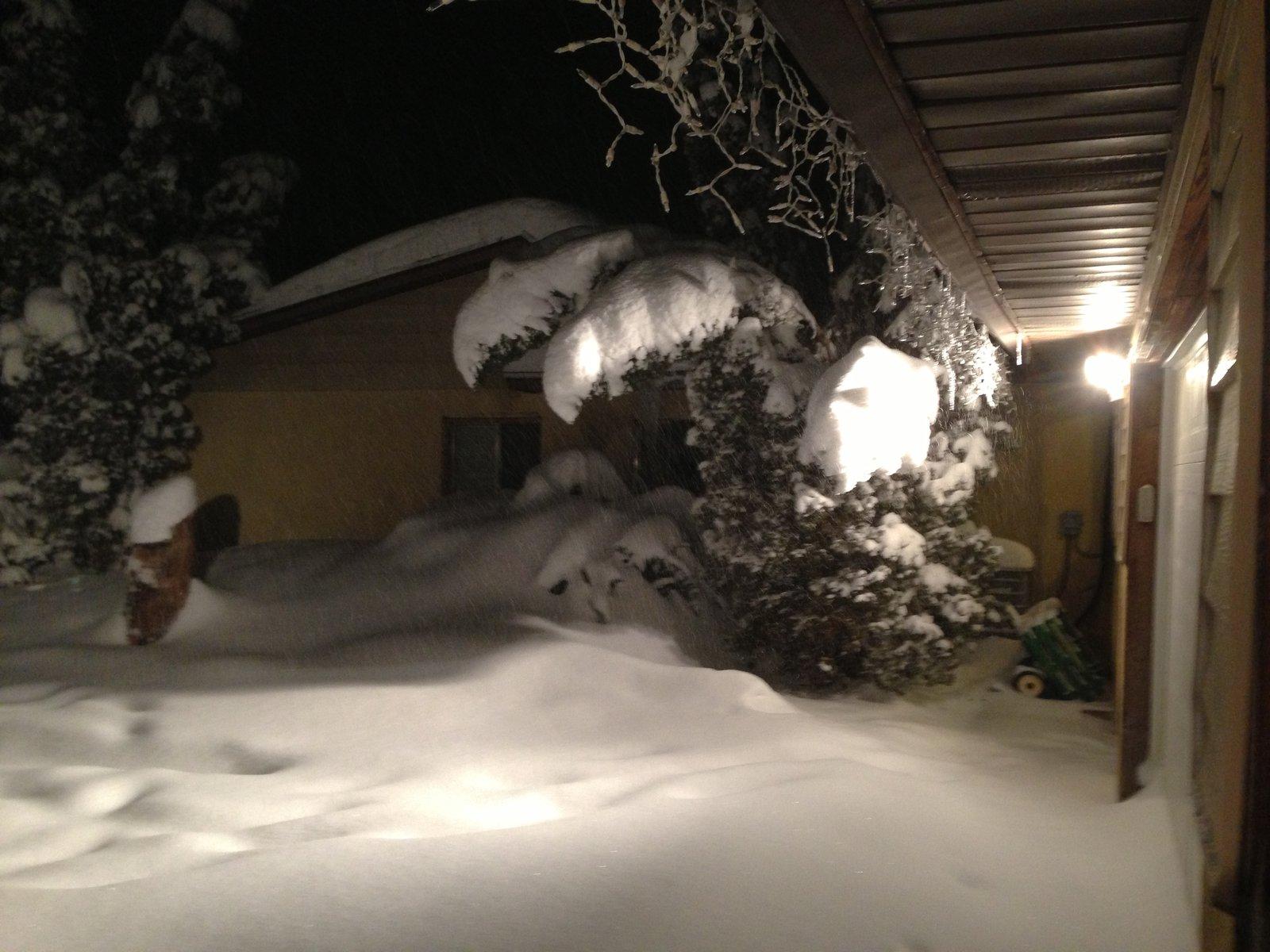 white trash ski off my roof