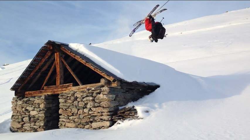 Frontflip Over Cabin