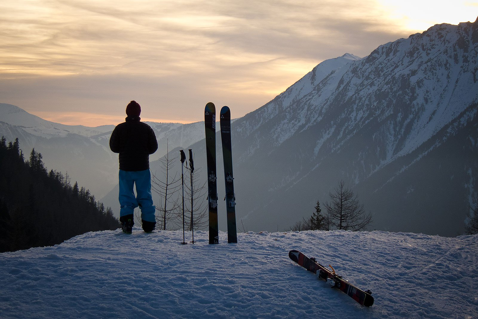 Sunset over Chamonix