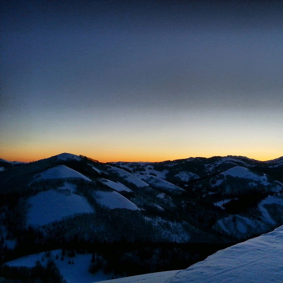Sunrise in the Wasatch BC
