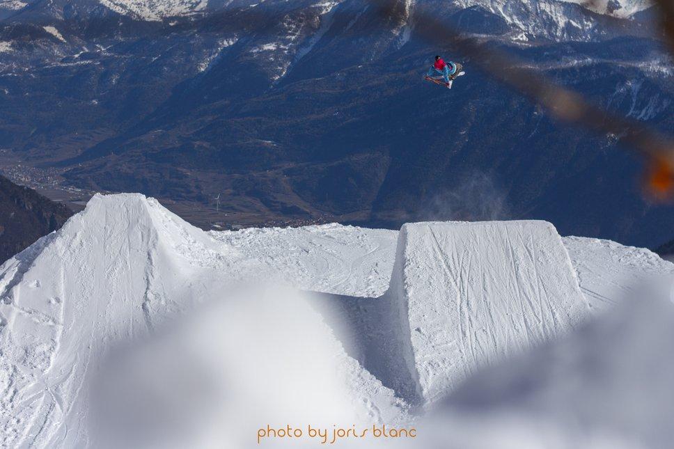 Alex Neurohr corking over a valley