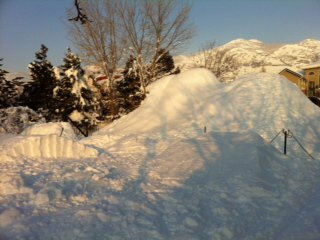 Back yard snowmaking/terrain park