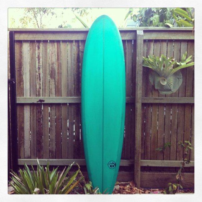 7'2'' Single Fin (Green Tint)