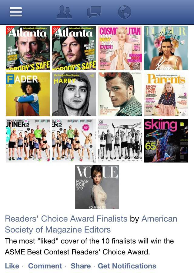 ASME Readers' Choice Cover Contest