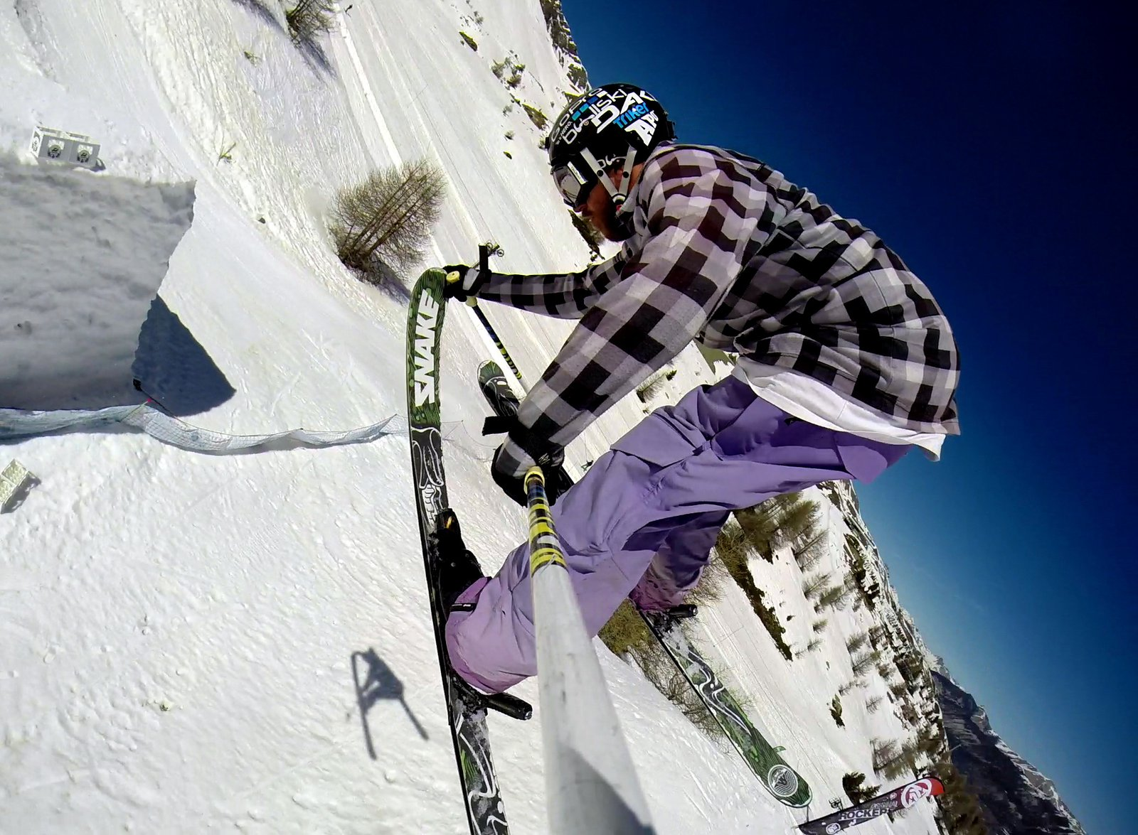 360 nose grab pole point of view