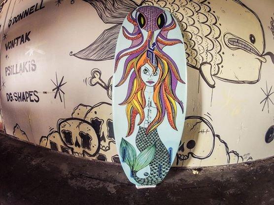 Custom Surfboard Art