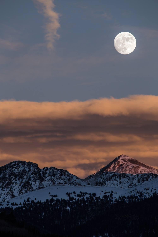 Moon Rising Over Loveland