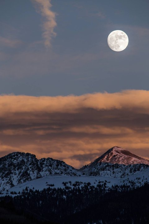 Moon Rising Over Loveland