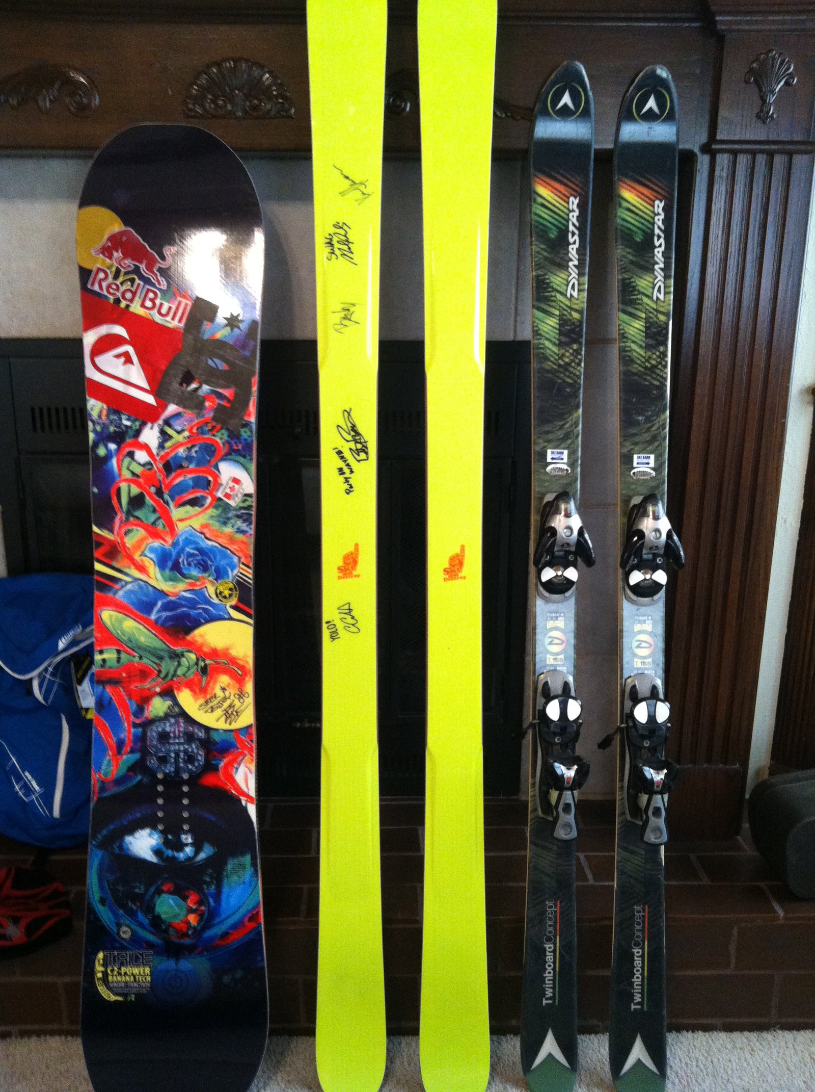 Skis and board.JPG