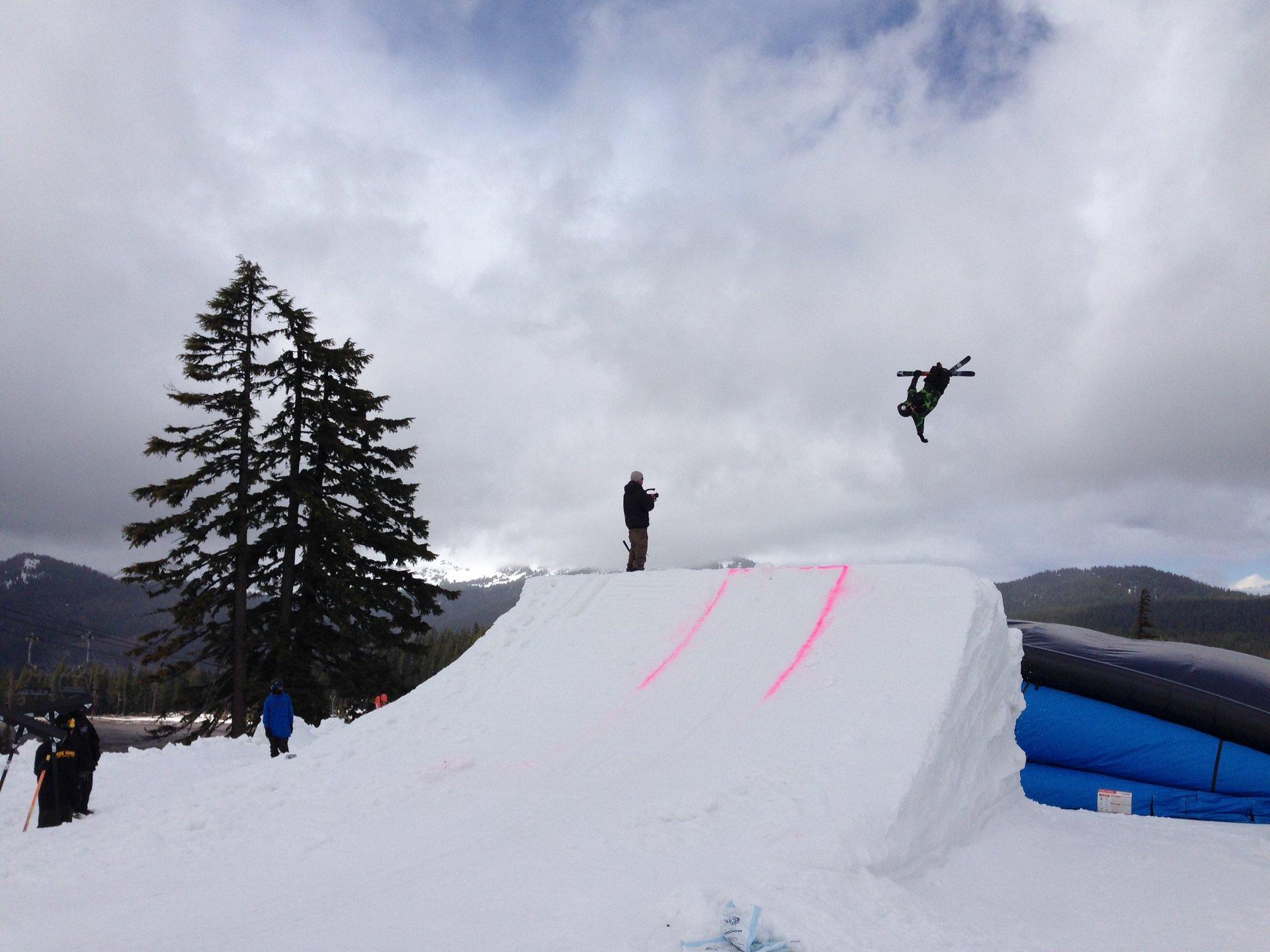 Pulling off my ski..