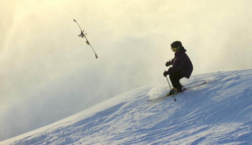 Mark Losing his Ski